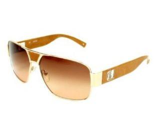 Guess GU 6608 GLD 34 Gold Tone Sunglasses Clothing