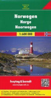 Norway 1600, 000 Travel Map with city plans, 2012 edition Freytag