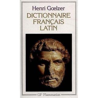 Dictionnaire francais/latin   Achat / Vente livre Henri Goelzer pas
