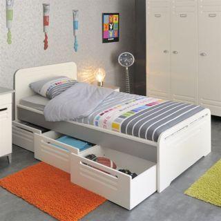 METAL Lit 3 tiroirs, 1 chevet et 1 armoire   Achat / Vente CHAMBRE