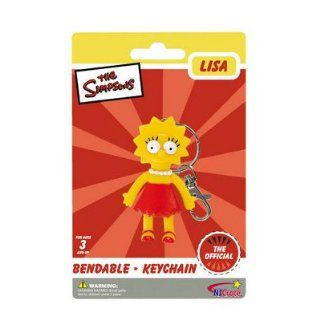 Simpsons Lisa Simpson Bendable Keychain Sports & Outdoors