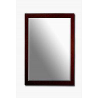 Mahogany Framed Beveled Wall Mirror