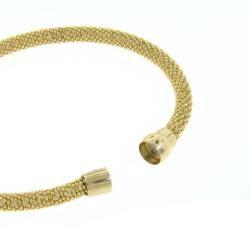Eternally Haute Yellow Gold over Silver Mesh Bracelet