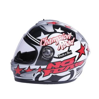 No Fear Casque intégral 706 Champion White Red   Achat / Vente CASQUE