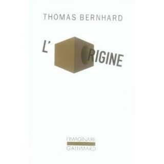 origine ; simple indication   Achat / Vente livre Thomas Bernhard