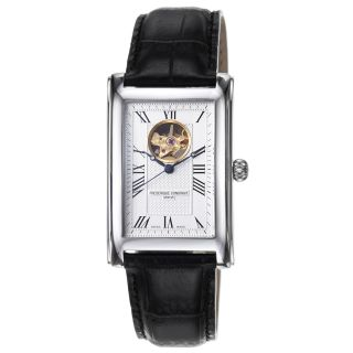 Frederique Constant Mens Carree Silver Dial Automatic Watch