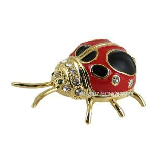Ladybug Trinket Box with Swarovski Crystals Home