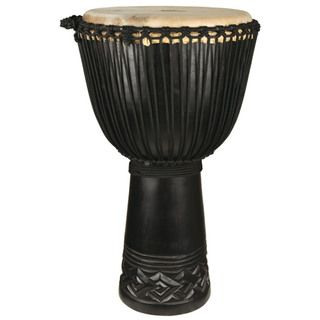 Black Hand Carved Professional Level Djembe Drum (Indonesia
