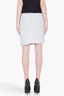 Helmut Lang Grey Jacquard And Leather Skirt for women