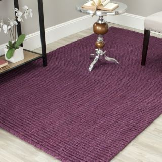 Hand woven Weaves Purple Fine Sisal Rug (8 Square) Today $229.99