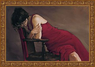 Michael J. Austin Red Dress Framed Canvas