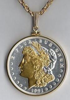U.S. Morgan Silver Dollar (Minted 1878   1921) Two Tone