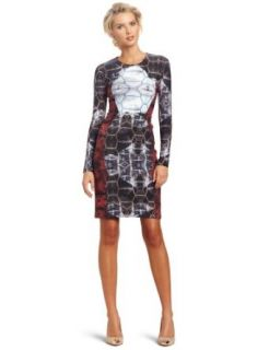 Cynthia Rowley Womens Kaleidoscope Shell Print Dress