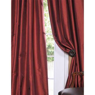 Paprika Faux Silk Taffeta 96 inch Curtain Panel