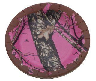 Mossy Oak Breakup/Pink 7 inch Heavyweight Paper Plates   8