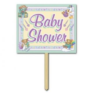 Baby Shower Yard Sign Party Accessory (1 count) Clothing