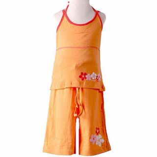 Mish Mish Girls Orange and Red 2 piece Outfit