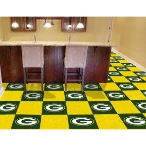 Green Bay Packers NFL Team Logo Carpet Tiles Sports