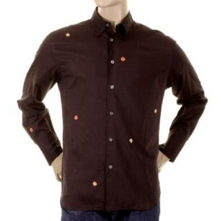 Paul Smith dark brown long sleeve shirt. PS2894 Clothing