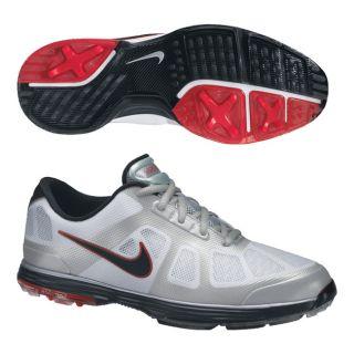 Nike Mens Lunar Ascend White/ Black/ Graphite Golf Shoes (Blem