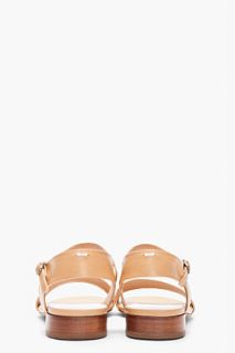 Maison Martin Margiela Tan Leather Flat Sandals for women