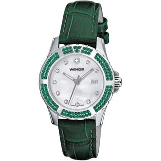 Wenger Womens Sport Elegance Green Leather Watch