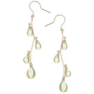 14k Yellow Gold Lemon Quartz Dangle Earrings