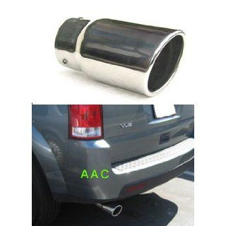 Stainless steel exhaust tip w/ mirror chrome finish   Saturn Vue 02 07