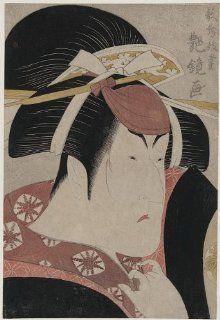 Reprint Historic Japanese Print Portrait of the actor