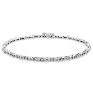 Miadora 14k White Gold 1ct TDW Diamond Tennis Bracelet (G H, I1 I2