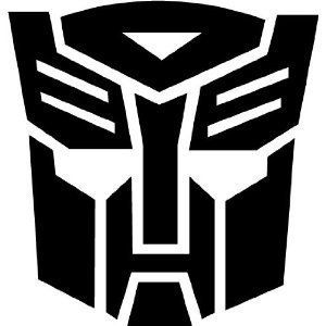 TRANSFORMER AUTOBOT Giant 9 BLACK Vinyl Sticker/Decal (Shown on