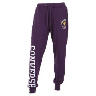 Modèle Fleece. Coloris  violet. Pantalon CONVERSE Homme avec taille