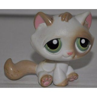 Kitten 197 (White, Green Eyes, Tan Patches) Littlest Pet Shop (Retired