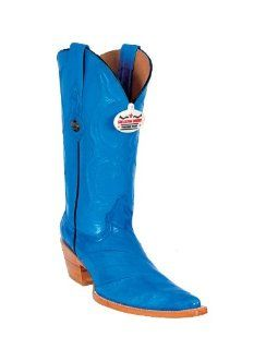 Los Altos Ladies Royal Blue Eel Cowgirl Boots: Shoes