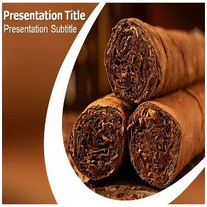 Cigar Powerpoint Template   Cigar Powerpoint Templates