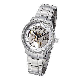 Stuhrling Original Womens Lady Delphi Automatic Crystal Bracelet
