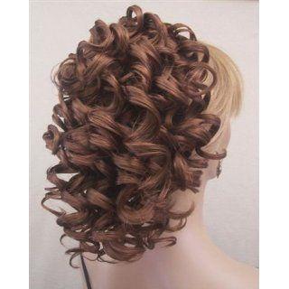 MAD LOCKS Spiral Curls Hairpiece Wig #27A33 STRAWBERRY/DARK AUBURN by