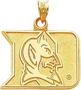 14K Gold Duke University Blue Devil Mascot Charm New Arts