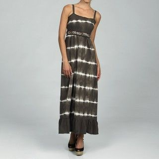 RXB Tie Dye Olive Belted Maxi