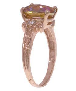 10k Rose Gold Twilight Fire Topaz Ring