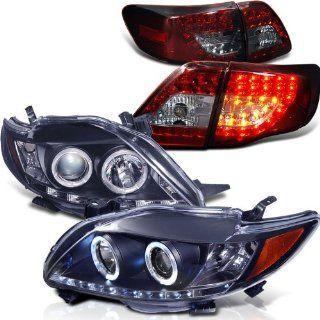 Eautolight 2009 2011 Toyota Corolla Twin Halo LED Projector Head+led