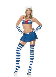 Leg Avenue Womens 5 piece Sexy Sailor Girl Costume
