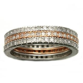 Beverly Hills Charm 14k Gold 1ct TDW Diamond Stackable Eternity Band