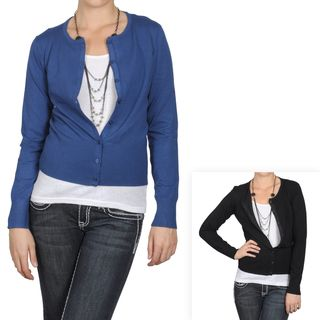 Journee Collection Womens Button up Long sleeve Ribbed Cardigan