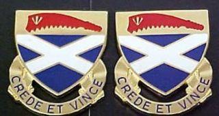 200th Regiment Alabama Distinctive Unit Insignia   Pair