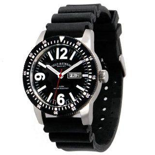 Field & Stream Mens F205GKSK Ocean Angler Black Rubber Strap Watch