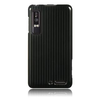 Luxmo Black Line Snap on Protector Case for Motorola Droid 3/ XT862