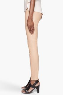 Maison Martin Margiela Warm Beige Lamb Leather Leggings for women