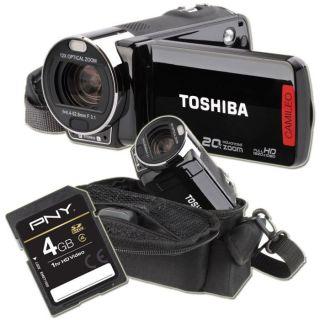 TOSHIBA CAMILEO X200 + Etui + Carte SD 4 Go   Achat / Vente CAMESCOPE