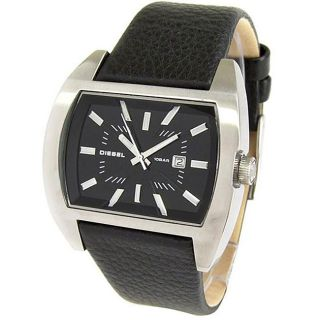 Diesel Mens Black Leather Strap Watch Today $94.99